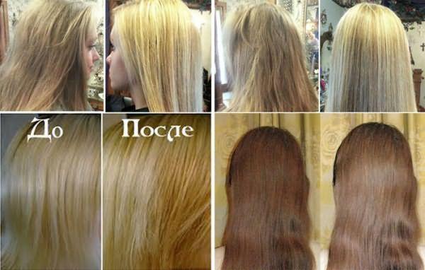 Результаты покраски волос