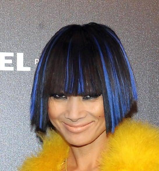 мелирование на черные крашеные волосы фото