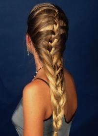 Французские косы на длинные волосы 1