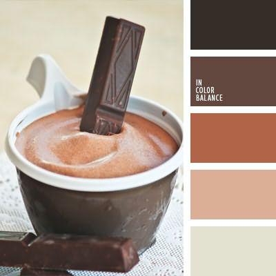 Цветовая палитра шоколадного цвета невероятно широкая