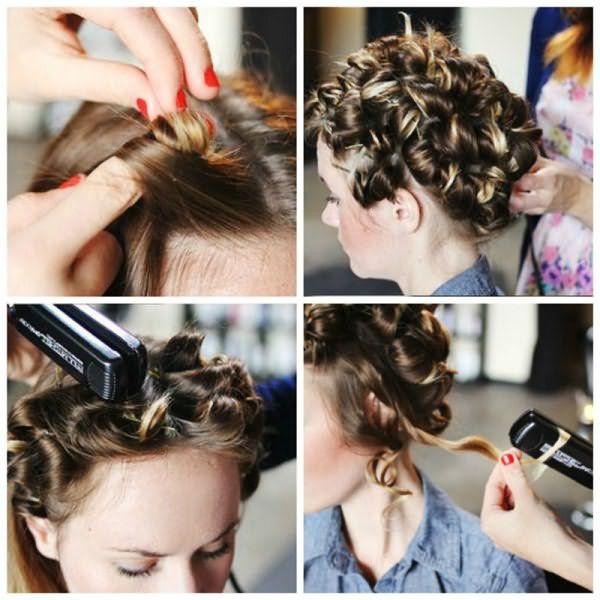 Накручиваем волосы на утюжок – метод «жгутов»