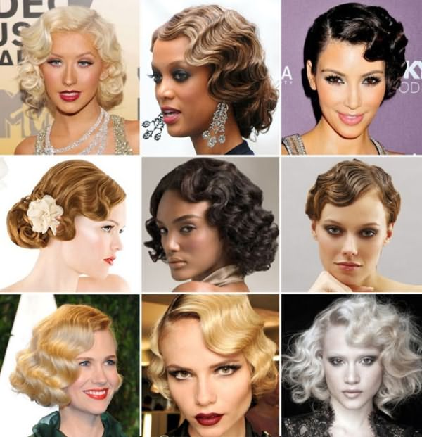 Голливудские кудри на средних и коротких волосах