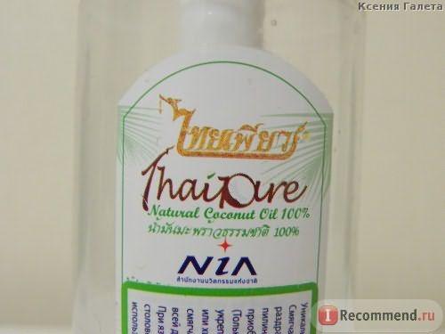 Масло кокосовое ThaiPure Натуральное холодного отжима фото