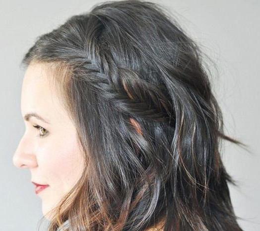 как заплести колосок на короткие волосы