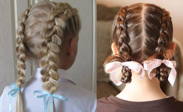 Две французские косы