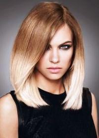 стрижки для объема на средние волосы 9