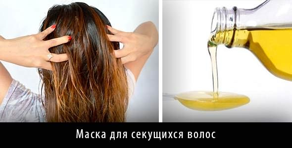 Для устранения проблем хорошо подходят маски на основе растительных масел