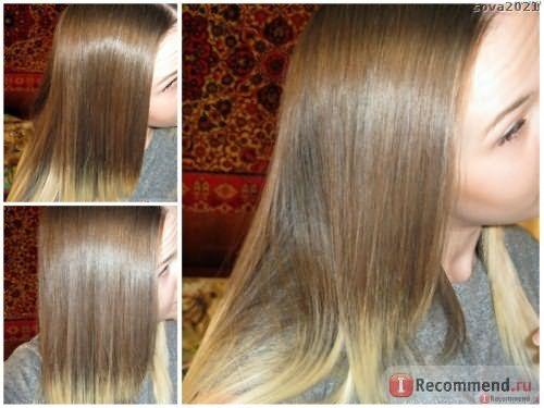 Волосы с использованием средств из серии 3 ценные глины