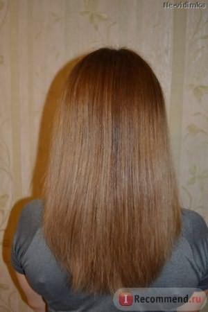 Фото волос после маски с маслом бэй на корни и маслом абрикосовых косточек для длины (с вспышкой)