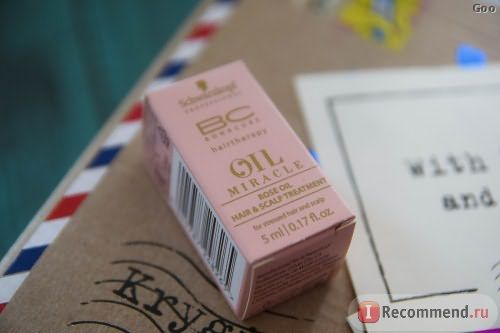 Масло для волос Bonacure Oil Miracle Rose Oil фото