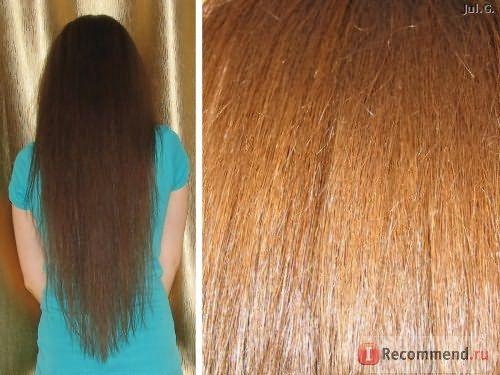 после нанесения на сухие волосы