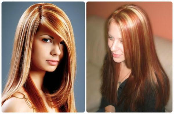 Белое мелирование на рыжие волосы - 2