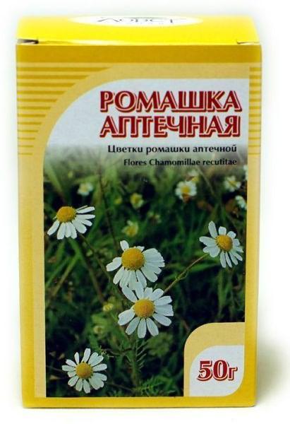 Сухой ромашковый сбор продается в любой аптеке. Стоимость от 40 до 70 рублей