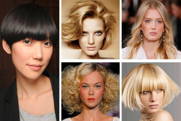 На фото можно увидеть, что к различным по форме лицам подходят разные прически