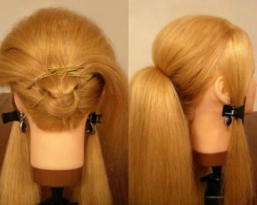 Волосы хвоста вверху