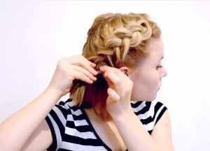 быстрая прическа на короткие волосы своими руками 4