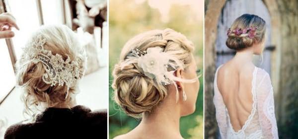 Свадебные прически с волосами, собранными сзади в пучок