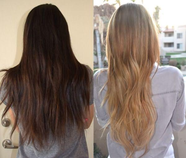 Темные волосы и светлые