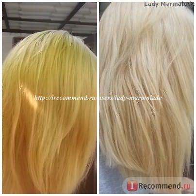 Блондирование волос в домашних условиях фото