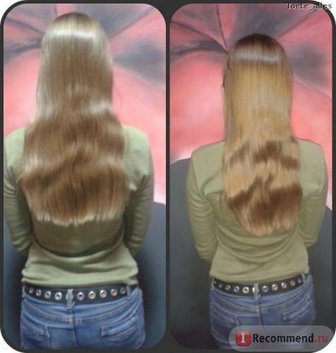 Первое применение масла (на волосах нет несмывашек и каких-либо средств, улучшающих внешний вид), фото без вспышки и с, волна образовалась от косички