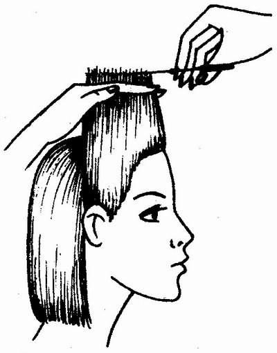 стрижка височных прядей