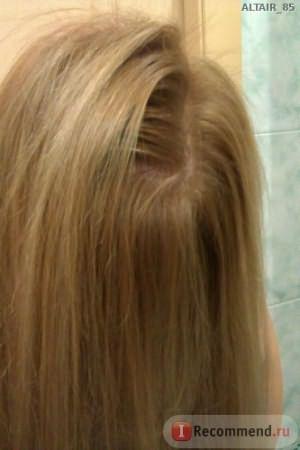 Как бы не наклонила голову - корни и длина одного цвета!! Класс!