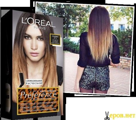 Лореаль (L'Oréal Paris) поможет нам успешно сделать окрашивание волос Амбре в домашних условиях.