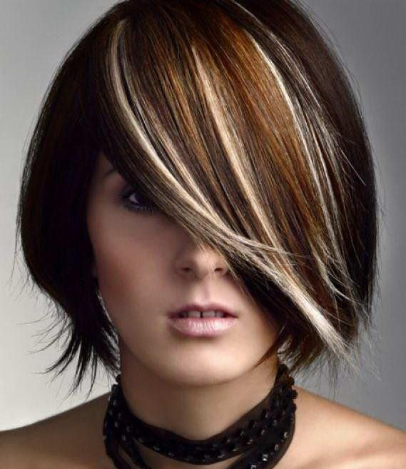 мелирование на черные волосы фотографии