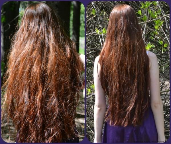 оба фото - до процедуры примерно за месяц, тогда волосы еще не пушились от корней