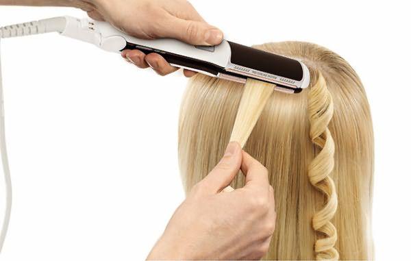 Завивка волос утюжком
