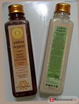 Шампунь Padma Organic Травяной на основе мыльных орехов Амла и Шикакай фото
