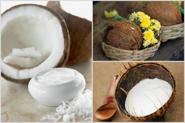 Кокосовое молоко хорошо проникает внутрь волосков, увлажняя и заполняя просветы
