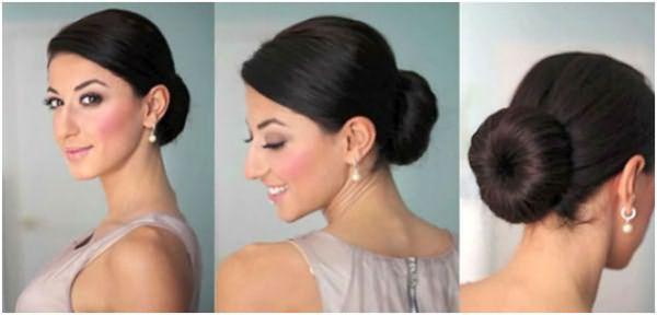 Укладка «гулька» подойдет для обладательниц длинных волос