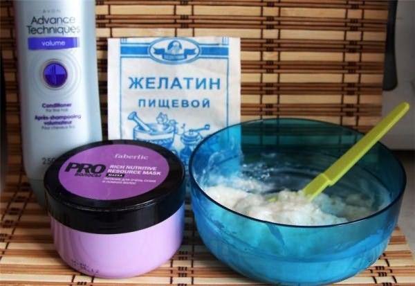Процедуру ламинирования можно провести и своими руками с помощью обычного пищевого желатина