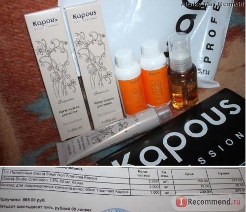Крем-краска для волос Kapous Серии «Non Ammonia» фото