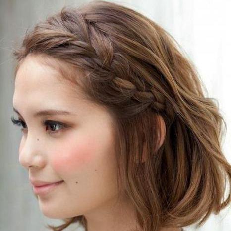 как заплести колосок на коротких волосах
