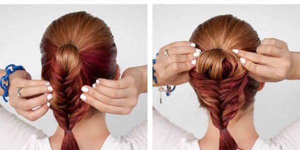 Способ распушивания заплетенной косы