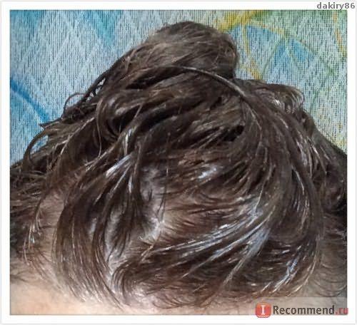 На волосах после нанесения