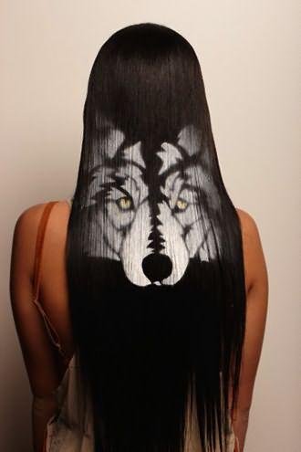 На длинных волосах рисунок смотрится особенно эффектно