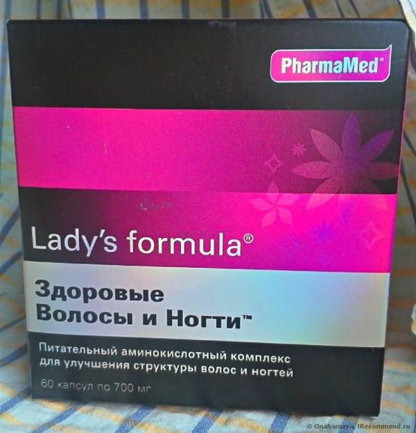 БАД PharmaMed Naturals Lady`s formula для волос, кожи, ногтей фото