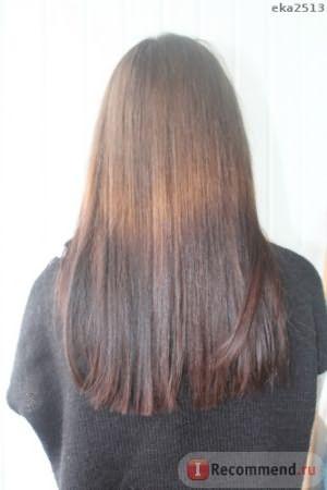 Волосы после процедуры.