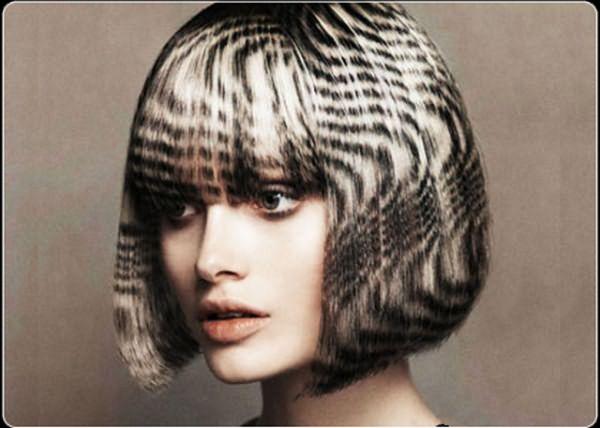 Фото волос, окрашенных в технике футуаж