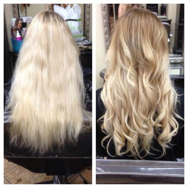 шатуш на светлые волосы фото до и после отзывы