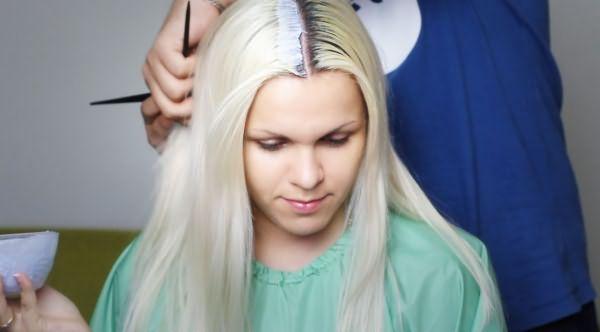 покраска корней волос в домашних условиях
