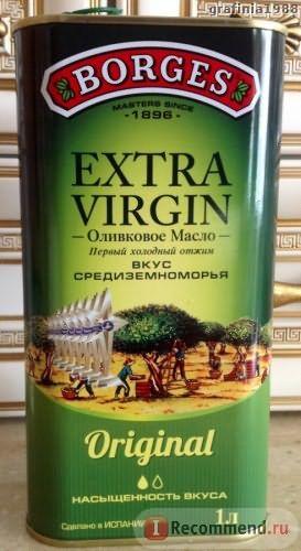 Оливковое масло BORGES EXTRA VIRGIN в металлической упаковке фото