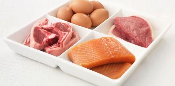 Рыба, яйца, мясо