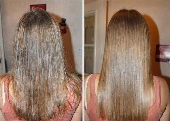 На фото – волосы до и после применения масок