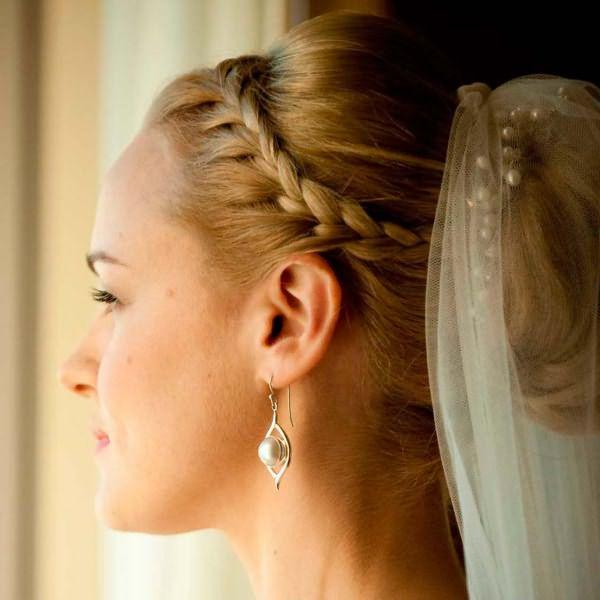 свадебные прически 2014 на длинные волосы
