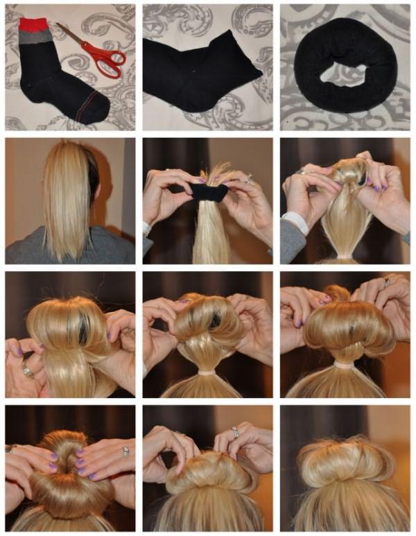 технология дульки из волос