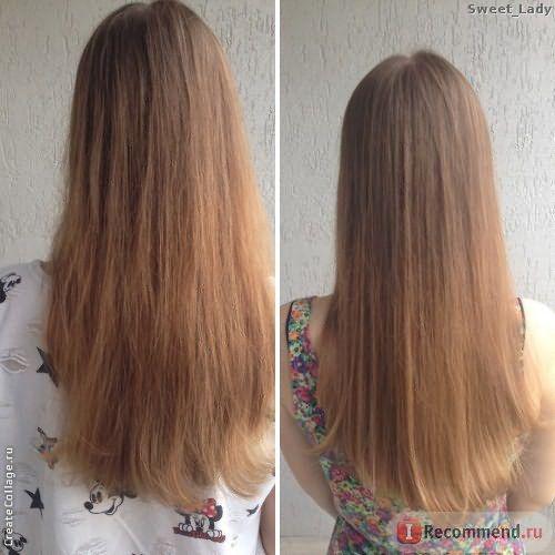 Волосы до и после шампуня Nutrapel Force Shampoo